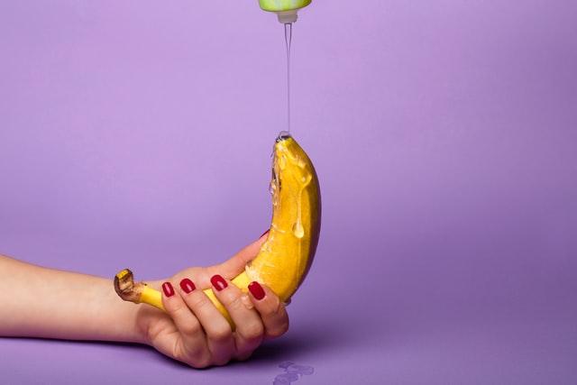 Anal Gleitgel auf Banane
